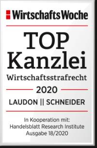 Wirtschaftswoche Handelsblatt TOP Kanzlei Wirtschaftsstrafrecht 2020