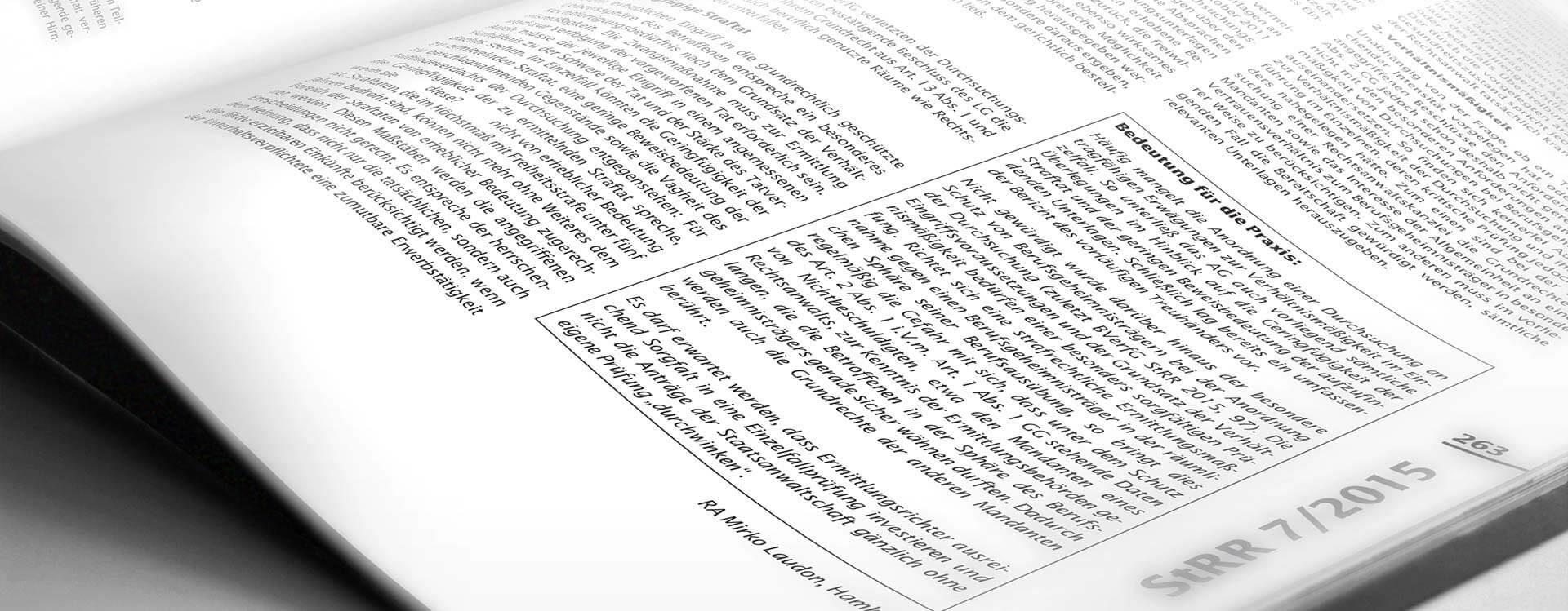 Veröffentlichungen von Rechtsanwalt Dr. Frédéric Schneider