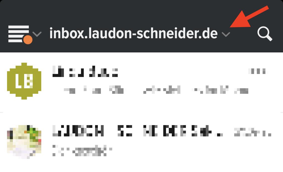 Neue inBOX-Adresse in der App hinterlegen
