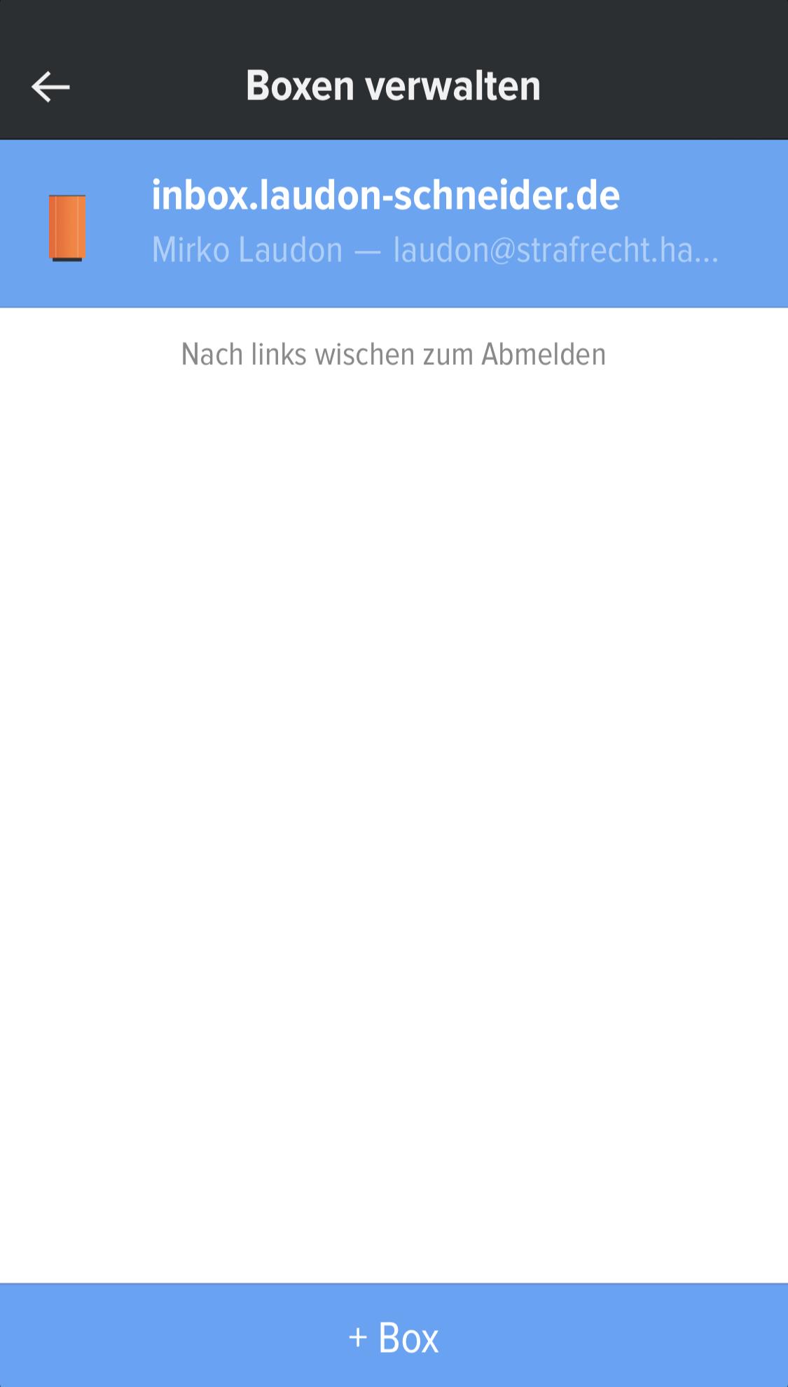 inBOX Neue Adresse Umzug LAUDON SCHNEIDER