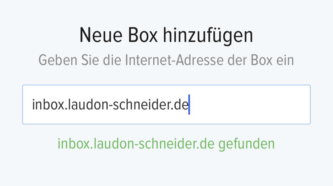 inBOX Neue Adresse LAUDON SCHNEIDER Umzug
